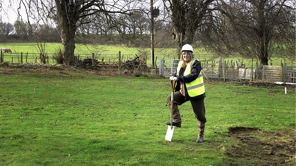 CEO Nikki Marley breaks the ground for the new skills centre